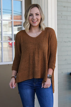 Frieda Cuffed Knit Sweater