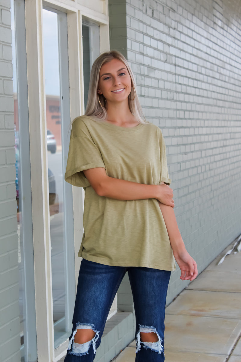 Basic Tacked Sleeve Top