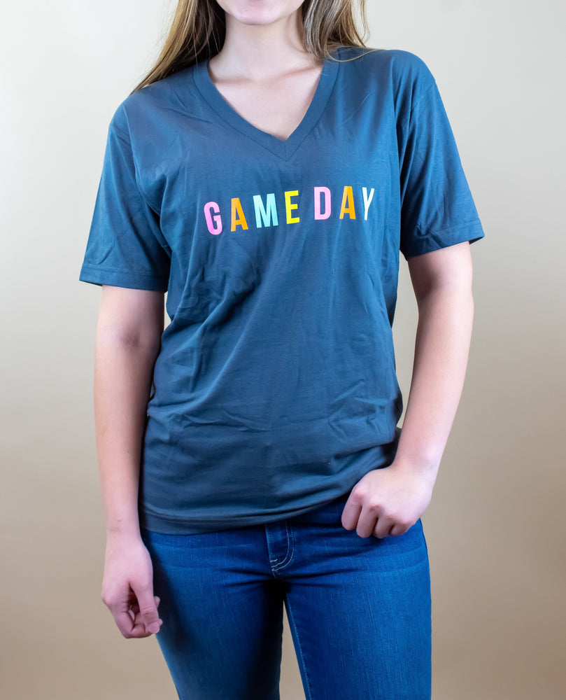 Game Day Rainbow V-Neck