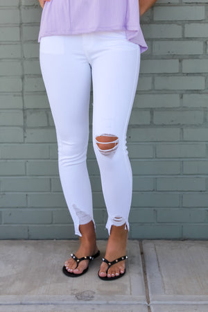 Gretchen Distressed Ankle Skinnies
