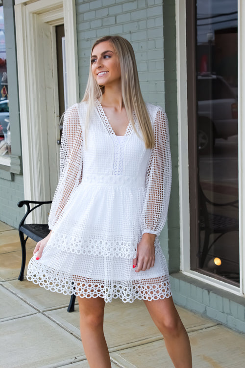 Timeless Combinations Lace Ruffled Dress