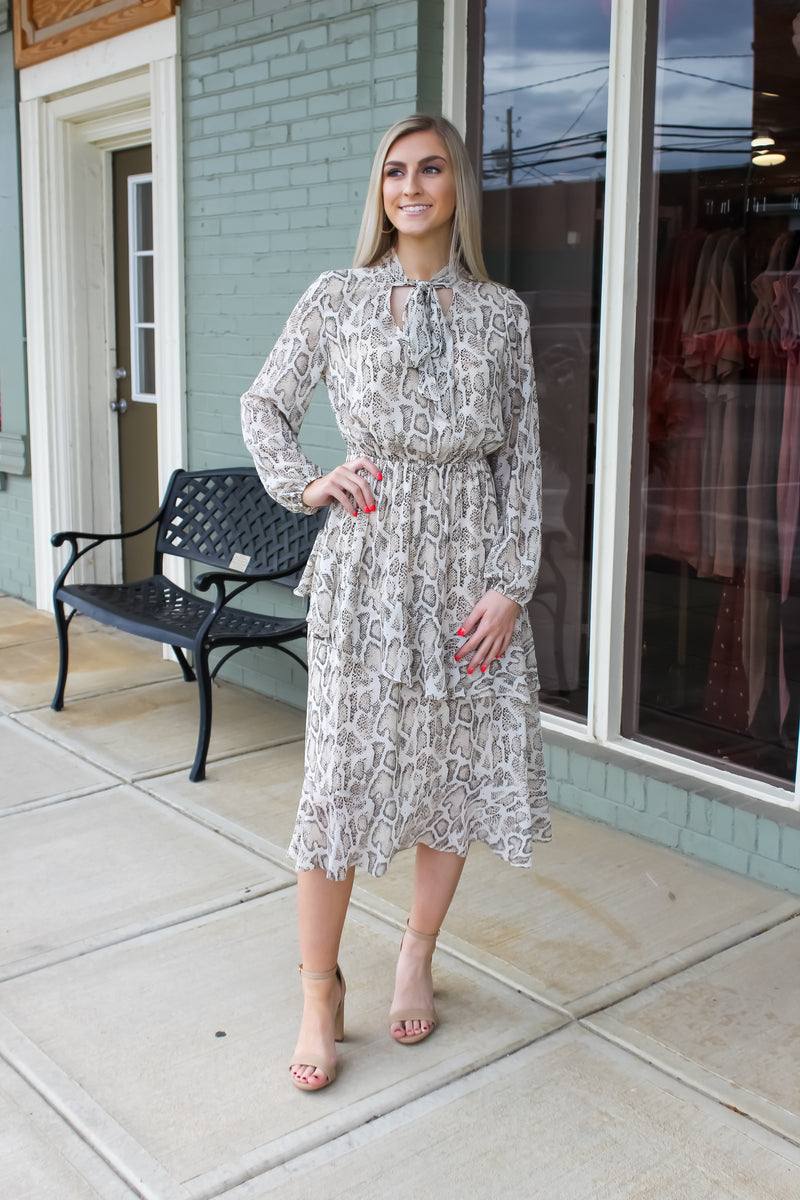 Forever Yours Long Sleeve Midi Dress