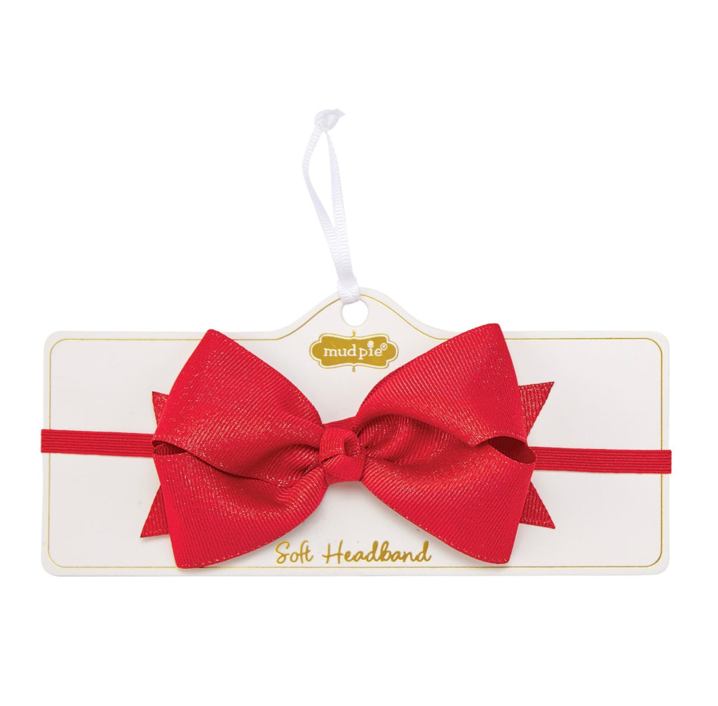 Holiday Soft Headband Bow