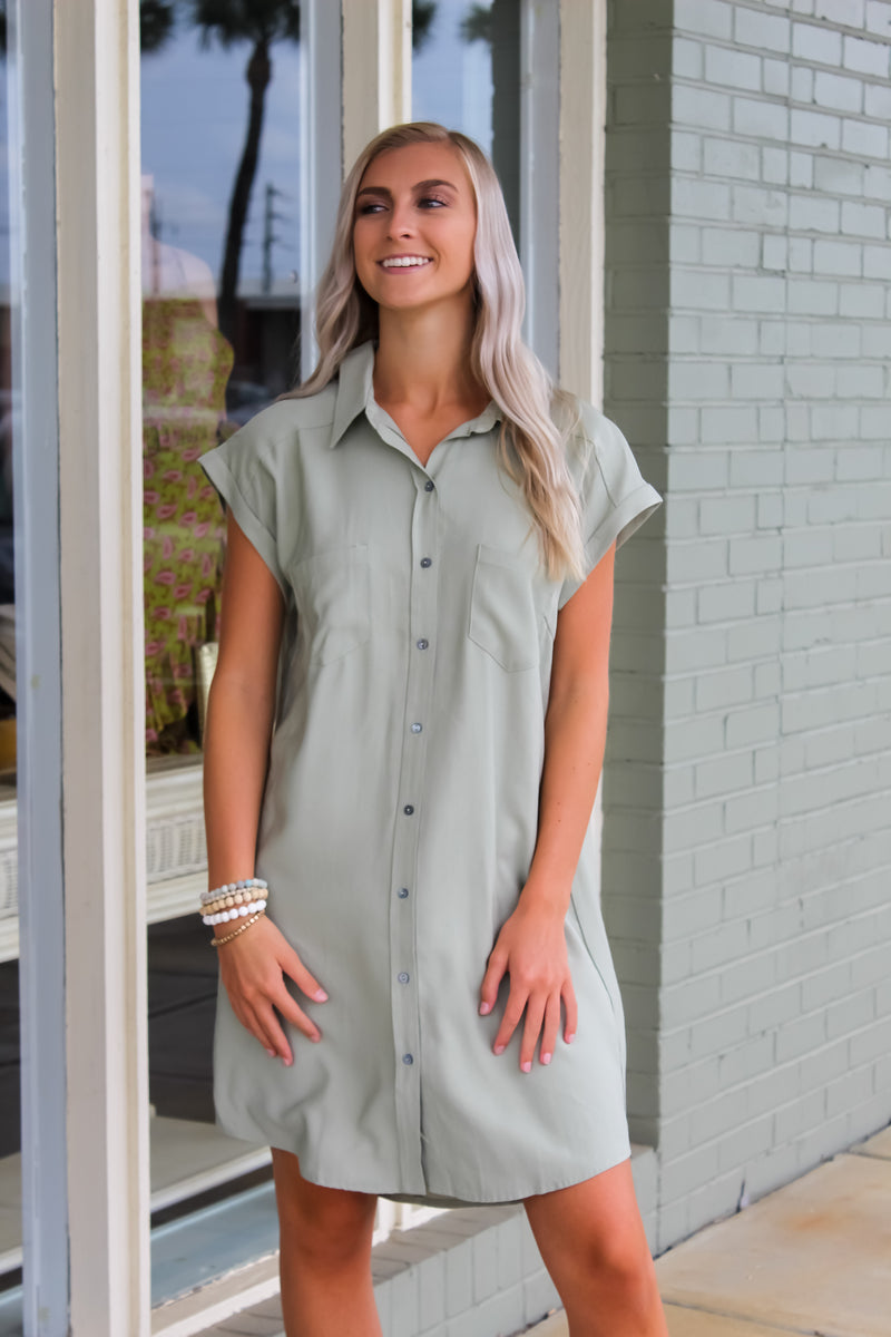 Lyla Button Down Shirt Dress