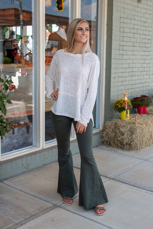 The Airy Slub Long Sleeve Top