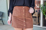 Corduroy Mini Skirt