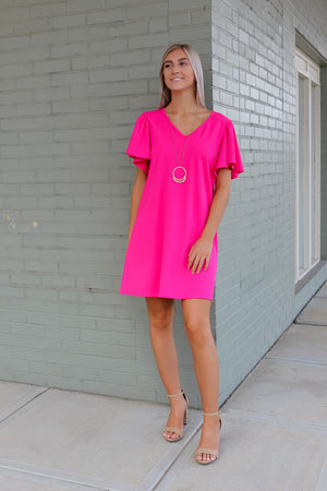 Brielle Ruffled Sleeve Knit Dress