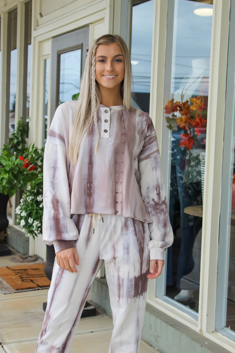 Tess Tie Dye Cropped Pullover