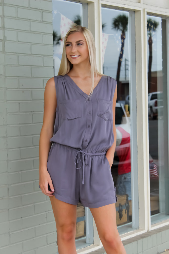 Ash Button-Up Romper