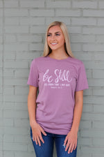 Be Still Tee: Orchid