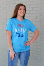 Red Wine & Blue Tee