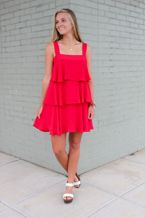 Game Day Ruffle Tiered Dress