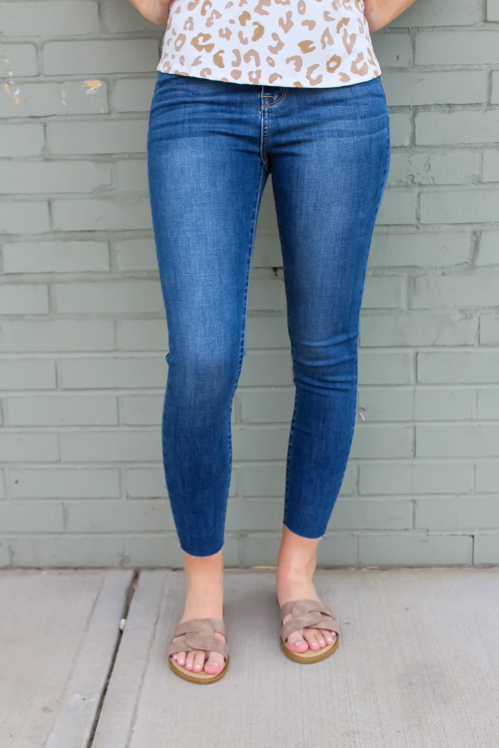 Zelda High Rise Cropped Skinnies
