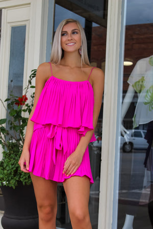 Hanna Pleated Romper
