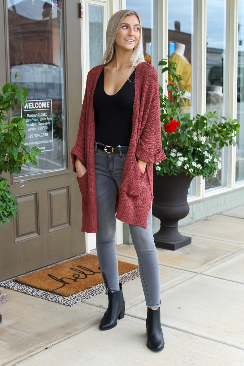Mid Sleeve Knit Cardigan