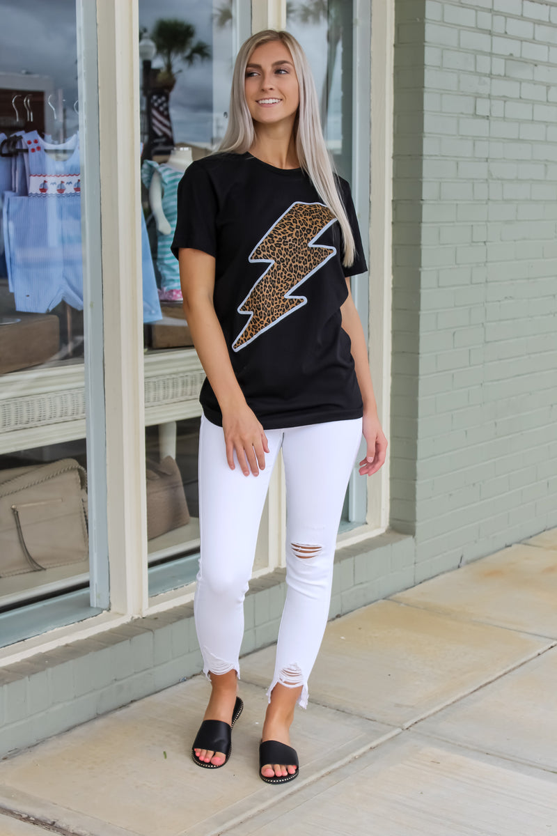 Cheetah Lightning Bolt Tee
