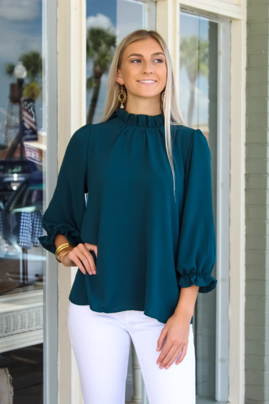 Melanie Mocked Neck Top