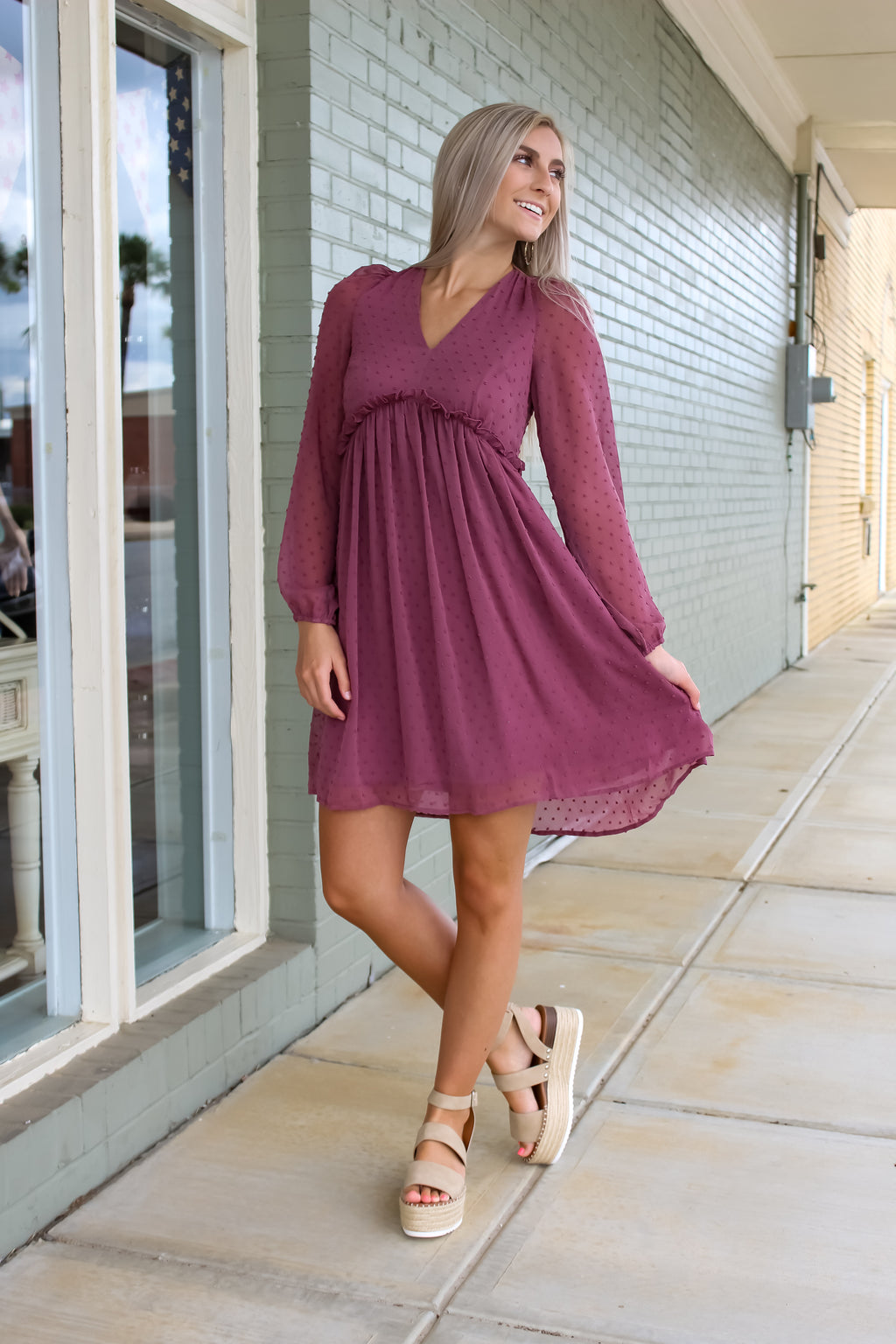 Julia V-Neck Chiffon Dress