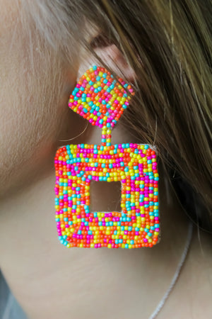 Marissa Square Seed Earring