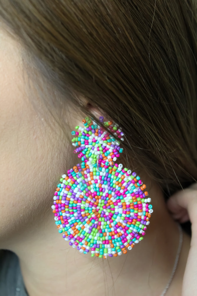 Feeling Extra Beaded Earring
