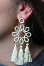 Swirly Tassel Earring