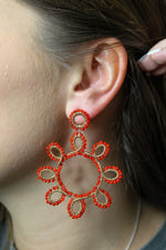 Around The Sun Beaded Earring