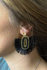 Fan the Flames Tassel Earring
