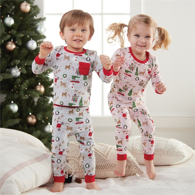 Girls Christmas PJ Set