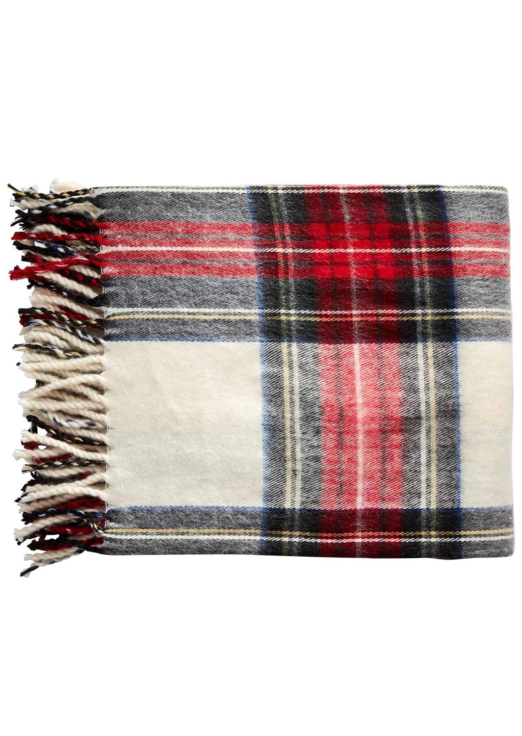 Tartan Fringe Throw