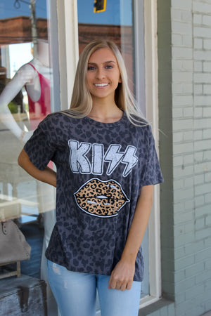 Leopard Kiss Lips Tee