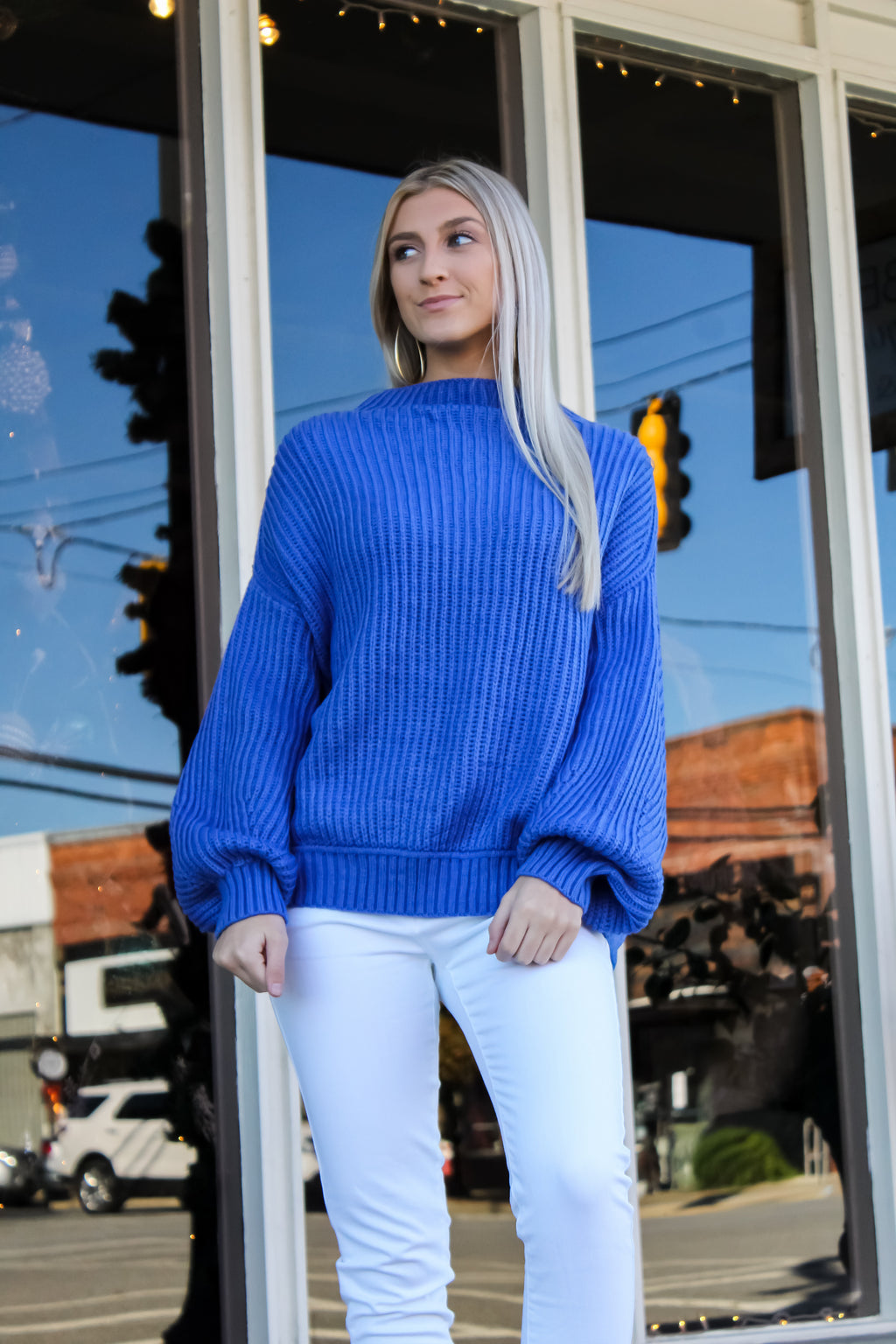 Dallas Ribbed Knit Sweater