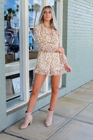 Stay Golden Long Sleeve Romper