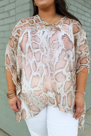 Instincts Poncho Top