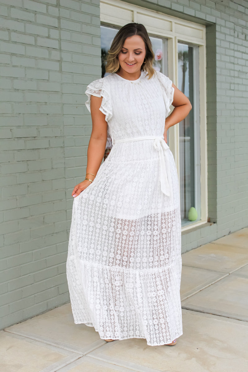Longing For You Lace Maxi Dress