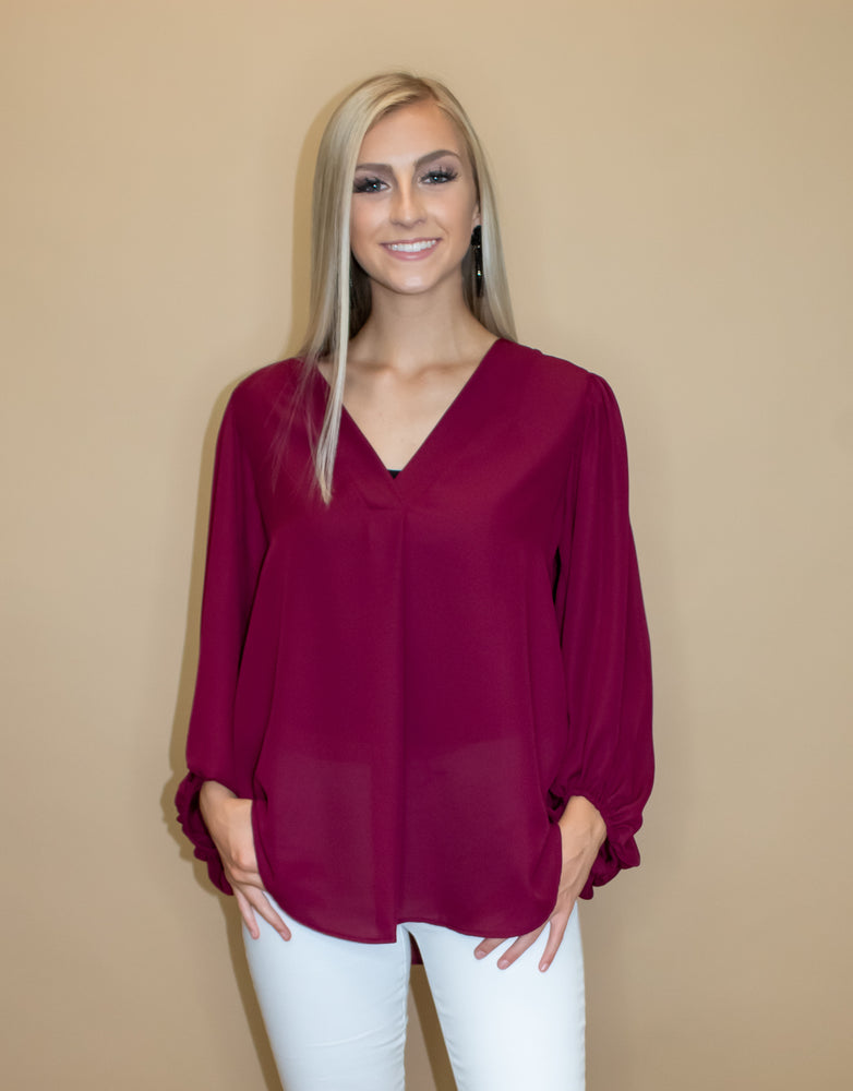 Team Bubble Sleeve Blouse