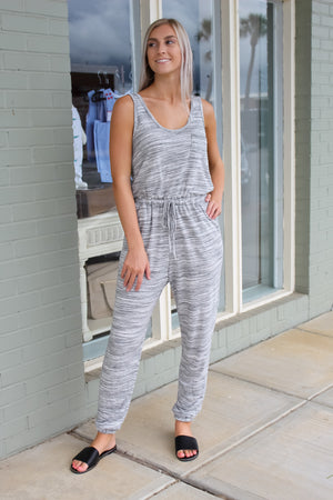 Vera Two-Toned Knit Jumpsuit