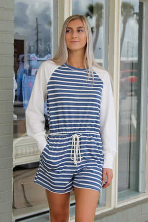 Playful Pocket Stripe Romper