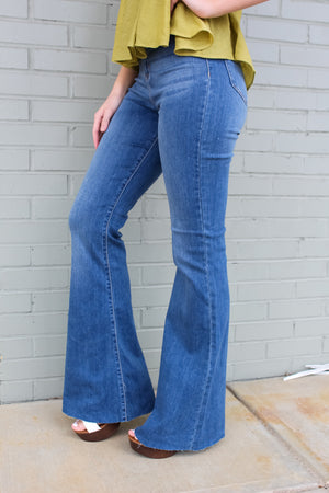 Madi Medium Wash Super Flares