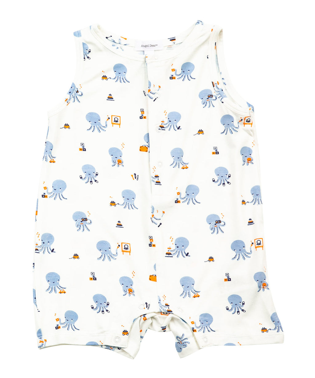 Octopus Playtime Sleeveless Shortie Romper