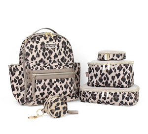 Leopard Travel Diaper Bag Packing Cubes