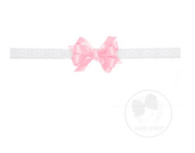 Baby Satin Lace Headband Bow