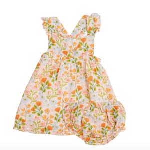 Honest Earth Floral Pinafore Top & Bloomer Set