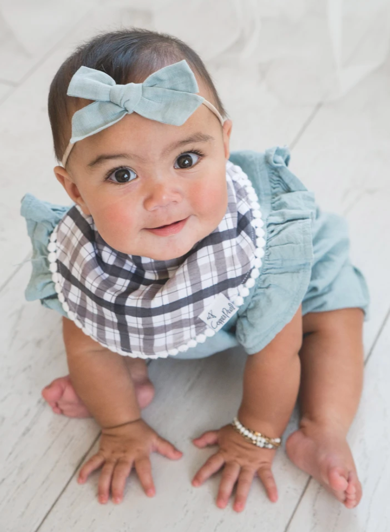 Copper Pearl Trimmed Bib Set