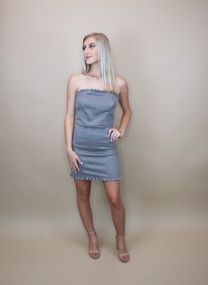 Special Nights Suede Tube Dress