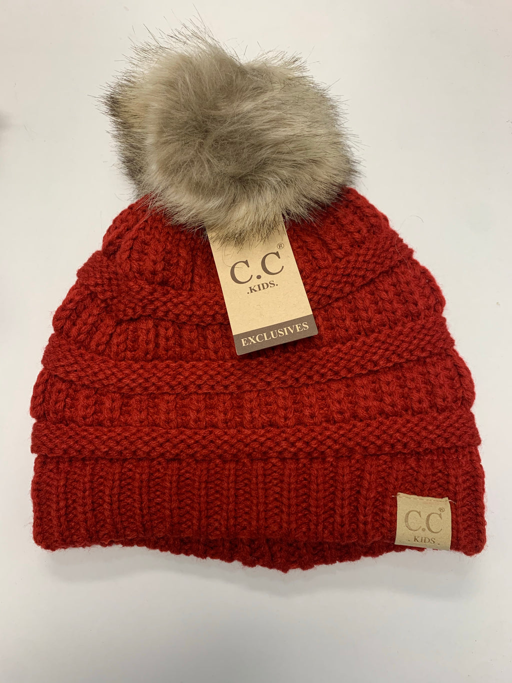 Kids Single Pom Beanie