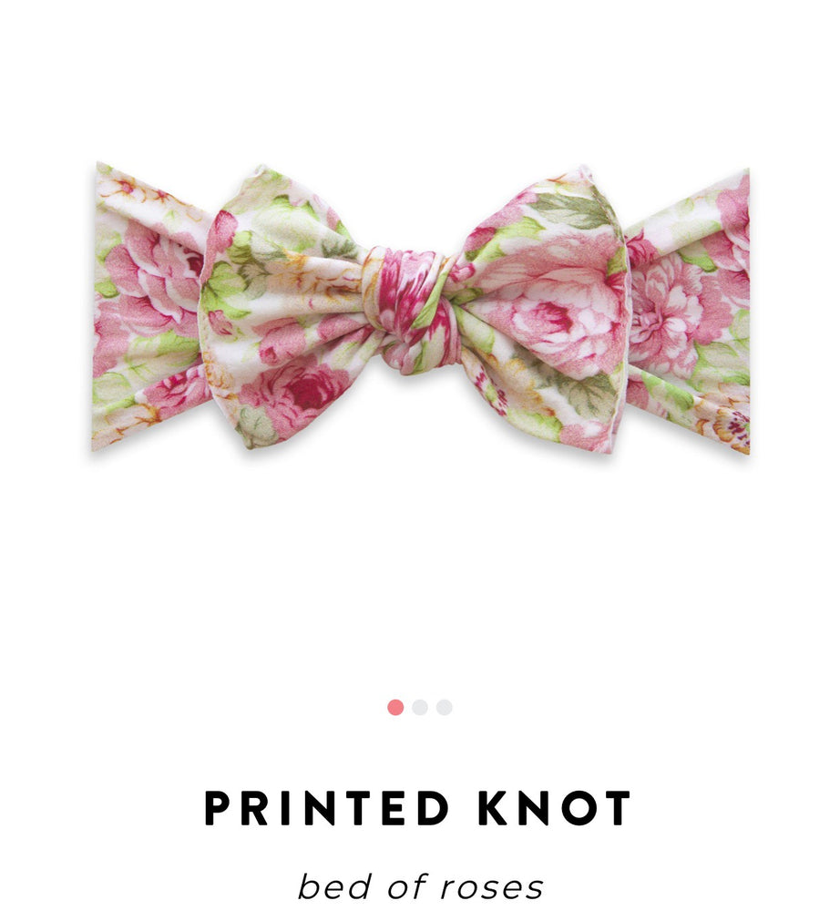 Baby Bling Bow: Printed Knot