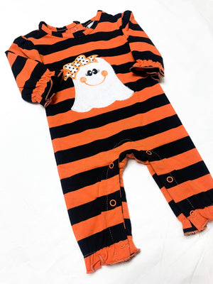 Ghost Applique Girls Romper