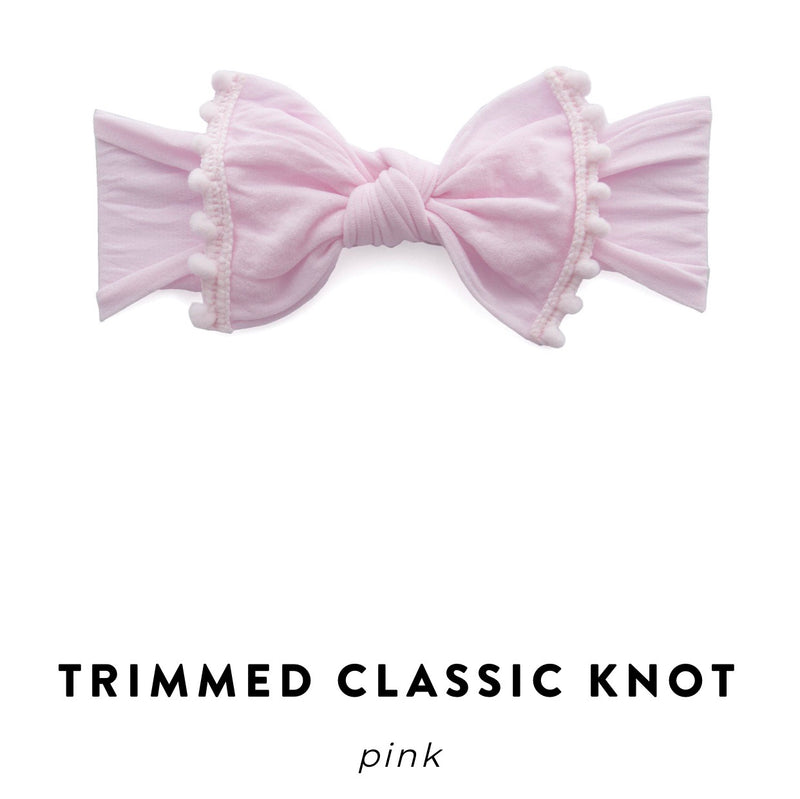 Baby Bling Bow: Trimmed Classic Knot