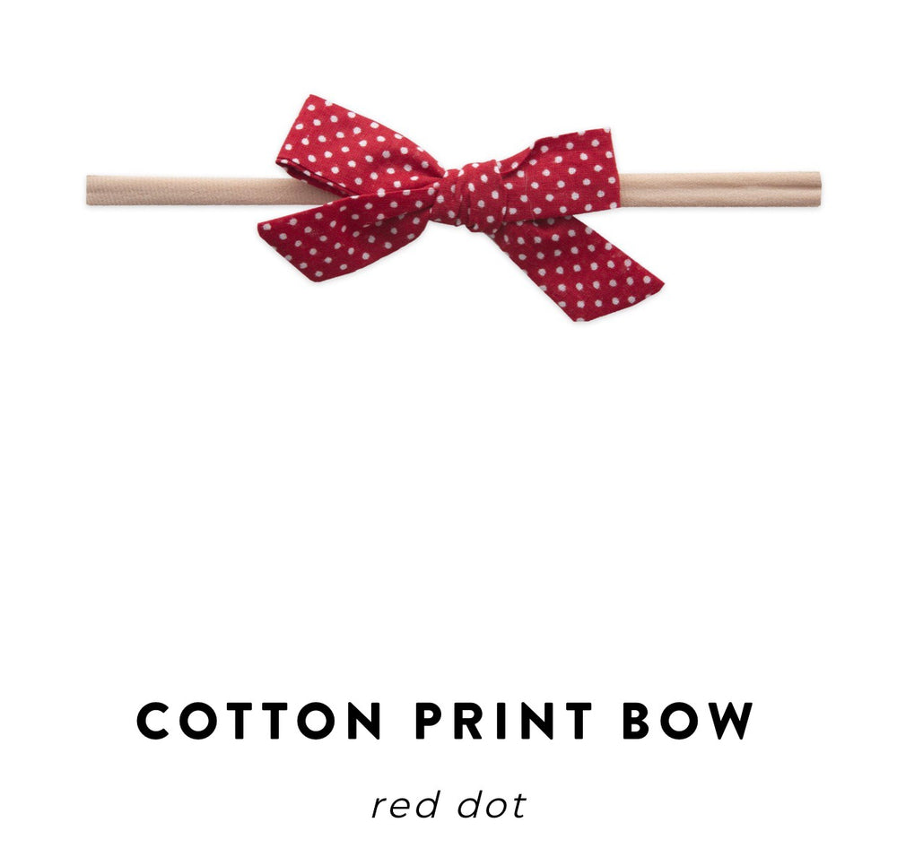 Baby Bling Bow: Cotton Print