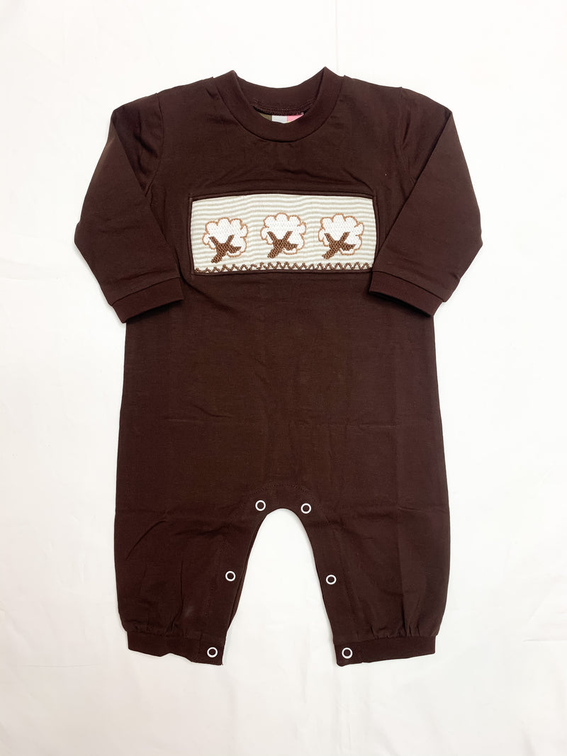 High Cotton Smocked Boys Romper